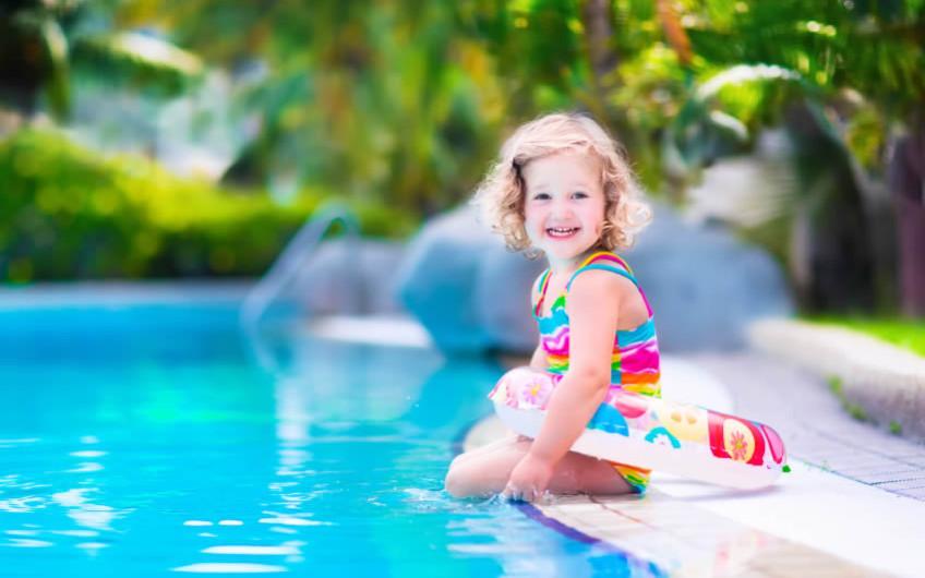Tropisch zwembad voor kinderen