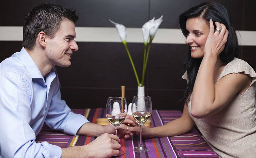 Etentje tijdens Valentijn